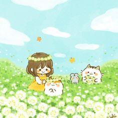 Anime Chibi, Cute Illustration, Ghibli, Art Tutorials, Cute Art, Art Inspo, Illustrators, Cute Pictures, Avatar