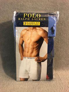 NEW Ralph Lauren Classic Fit Mens Cotton Knit Boxers - 3Pair -Blue  fashion    182c4c0f44c