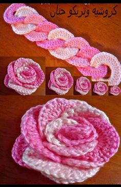 Crochet flowers - Brilliant - why didnt i think of this earlier?  These are sweet-I can see it on my new sweatshirt with Aloha print lining!
