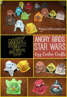 Angry Birds Star Wars Egg Carton Crafts We made Star Wars Angry Birds from egg cartons ‪#‎MayThe4thBeWithYou‬ ‪#‎Giveaway‬