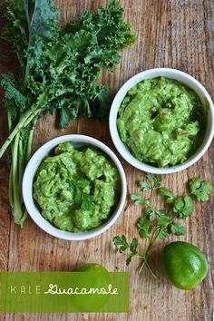 Plumped up Guacamole with Kale! Double the volume.