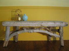100% DRIFTWOOD BENCH - BLUEWING DESIGN - Driftwood Furniture, Nature Arts, Crafts
