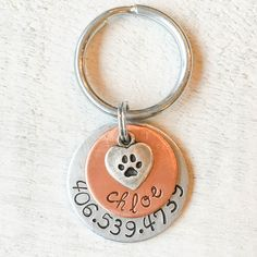 Chloe Tag Handmade Pet Tags Pet ID Tags Dog ID Tags Custom