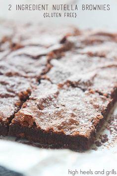 High Heels & Grills: 2 Ingredient Nutella Brownies {Gluten Free}