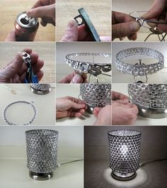 Creative Pop Tab Lamp Shade  - http://www.amazinginteriordesign.com/creative-pop-tap-lamp-shade/