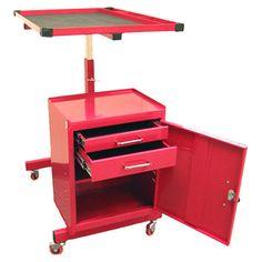 found it at wayfair adjustable 2 drawer metal tool cart in red