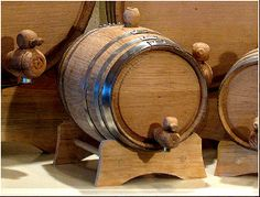 2 Liter Oak Barrel with Galvanized Hoops, super cute and great for aging or flavored whiskey/bourbon