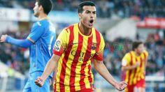 FC Barcelona, Pedro Rodríguez al grito de gol. | Getafe 2-5 FC Barcelona | FOTO: MIGUEL RUIZ - FCB