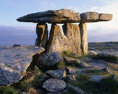 Poul na Brone Dolmen, County Clare. Ireland