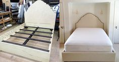 Now, it is perfectly custom made bed with the nice headboard.