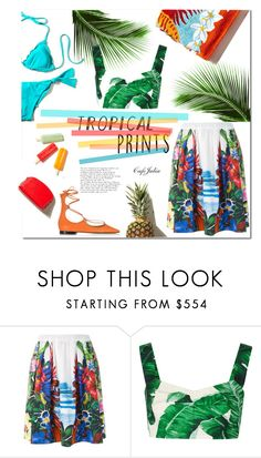 """Let's get Tropical"" by cafejulia ❤ liked on Polyvore featuring Dsquared2, Dolce&Gabbana and Pinko"