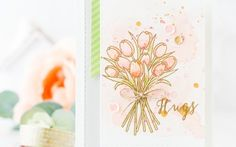 Stamped Watercolored Background + Top Watercolor