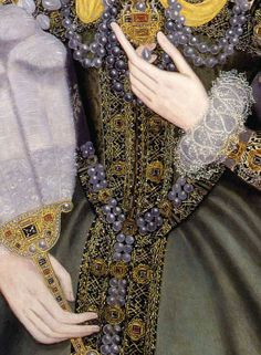 """""""Queen Elizabeth I with a Fan"""", circa 1585 – painted by an unknown artist Renaissance Costume, Elizabeth I, Classic Image, Detail Art, Bustier, Historical Costume, Female Portrait, Fashion Details, Fashion Outfits"""