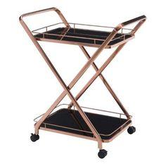 Zuo Modern Vesuvius Serving Cart - Rose Gold