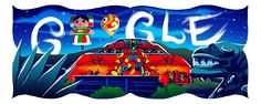 Mexico National Day 2017 Date: September 16 2017 Happy National Day Mexico! Not far from the modern metropolis of Mexico City lies another important cityone thats at least 1300 years old. Todays Doodle by guest artist Luis Pinto pays tribute to the ancient city Teotihuacan constructed between the 1st and 7th centuries. Who actually built the ancient city remains a mystery. Visitors to Teotihuacan stand in the shadows of the towering Pyramids of the Sun and Moon and the detailed Temple of Que