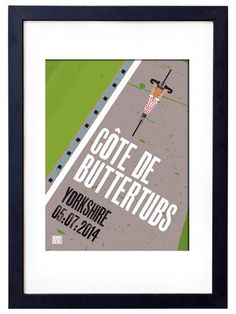 Stage 1 Tour de France in Yorkshire - Buttertubs Cycling Poster - Emma Felton - Cycling Photography & Gifts