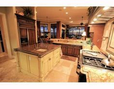 a grand kitchen!