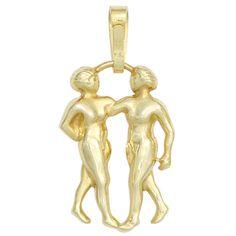 Anhänger Sternzeichen Zwilling 333 Gold Gelbgold Sternzeichenanhänger