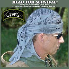 Amazon.com: Survival Signaling Bandana with Printed Survival Instructions: Clothing