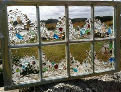 Sea Glass Wave Window by beachcreation on Etsy, $250.00