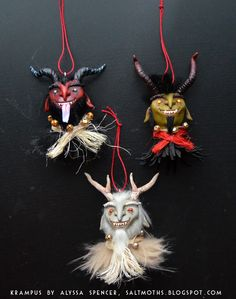 My Krampus ornaments are done! They turned out absolutely amazing and I want to keep them for myself. Each of them is a cast head from my or...