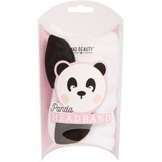 Topshop Panda Head Band (£3.50) ❤ liked on Polyvore featuring accessories, hair accessories, monochrome, head wrap hair accessories, headband hair accessories, head wrap headband, hair band accessories and hair band headband