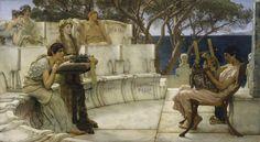 LARGE SIZE PAINTINGS: Sir Lawrence ALMA-TADEMA Sappho and Alcaeus 1881