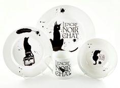 Chat+noir+fine+bone+dinner+set+by+MADOLDCATLADY+on+Etsy,+£52.00