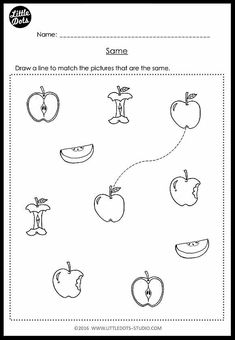 Pre-K Same and Different Worksheets and Activities Nursery Worksheets, Fun Worksheets For Kids, Printable Preschool Worksheets, Free Kindergarten Worksheets, Pre K Worksheets, Matching Worksheets, Toddler Worksheets, Preschool Homework, Daycare Curriculum
