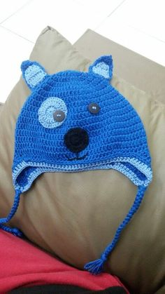 Touca cachorrinho crochet