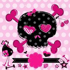 Black Phone Background Art Skull Drawings Wallpaper Pink Backgrounds
