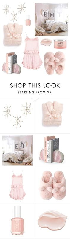 """Lovely Lounge Wear"" by littlelovelylex ❤ liked on Polyvore featuring Uttermost, Barefoot Dreams, PBteen, Boohoo, Essie, philosophy and LovelyLoungewear"