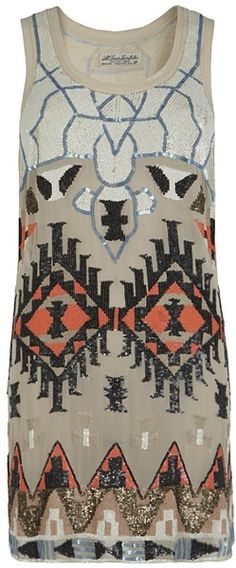 ALL SAINTS ENGLAND Aztec Mini Dress