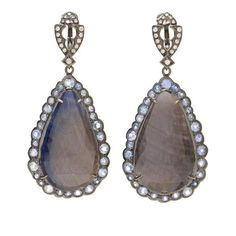 LOREE RODKIN Umba Sapphire And Diamond Tear Drop Earrings ($25,865) ❤ liked on Polyvore