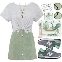 Untitled #680 by andreiasilva07 on Polyvore featuring Topshop, New Balance, Ted…