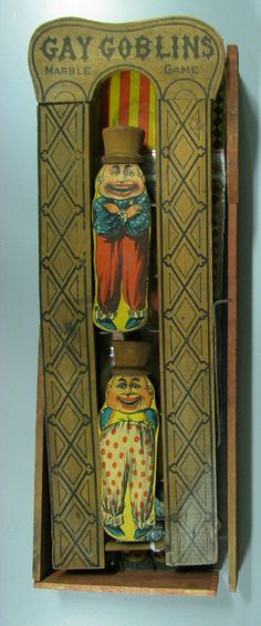 Gay Goblins Marble Game, 1895 players either dropped or tossed a marble into… Vintage Games, Vintage Toys, Antique Toys, Vintage Antiques, Victorian Toys, Toys In The Attic, Marble Games, Tin Toys, Classic Toys