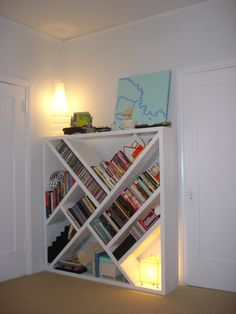 shelves- lots of space but not the traditional shape!