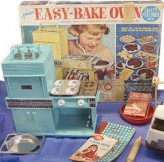 I made everything shown on the box, in my teal colored, light bulb powered, Easy Bake Oven!