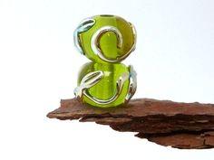 Lampwork-Beads: Murano & Double Helix    ♡ Handmade ♡    Die Verzierungen auf den Perlen changieren zwischen S
