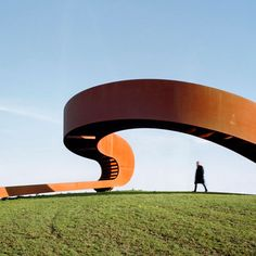 Hilltop staircase by NEXT Architects creates the illusion of an endless walkway