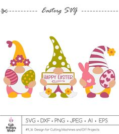 Happy Easter Day PNG Bundle Happy Easter Egg Png Sublimation File Spring Design for Shirts Bunny Easter Gnome Png Easter Gnome PNG