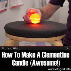 """Please Share This Page: If you are a first-time visitor, please be sure to like us on Facebook and receive our exciting and innovative tutorials and info! We found a great video by Apartment Therapy TV which you are sure to love! The clementine candle tutorial video is part survival tutorial, part """"cool project"""" and [...]"""