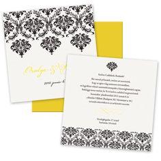 Wedding Invitation   Ornamental Lemon 170