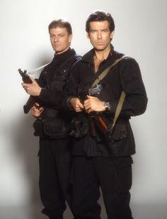 James Bond 007 (Pierce Brosnan) & Alec Trevelyan 006 (Sean Bean) in Goldeneye (1995)