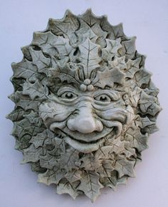 Yule Green Man Plaque