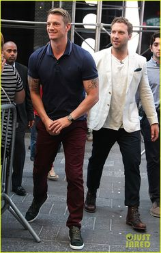Jai Courtney Joel Kinnaman Good Morning America Suicide Squad -----My two handsome fellas!