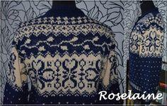 Roselaine gilet nordique Phildar 3