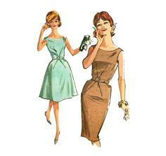 1960s Womens Cocktail Dress - McCall's 6802 Vintage Pattern - 32 Bust - Slim or Full Skirt on Etsy, $21.00