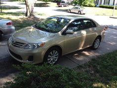 Our pretty gold 2013 Toyota Corolla