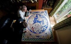 A 12th Century Mappa Mundi has been re-created using paint made from ground up…